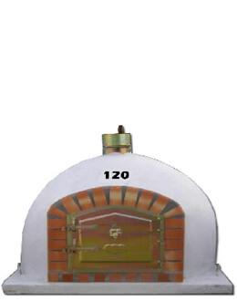 Pizzaoven met schoorsteen 120cm