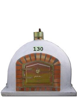 Pizzaoven met schoorsteen 130cm