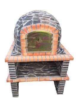 pizzaoven natuursteen 90cm op onderstel